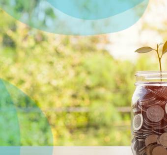 Mason jar filled with money