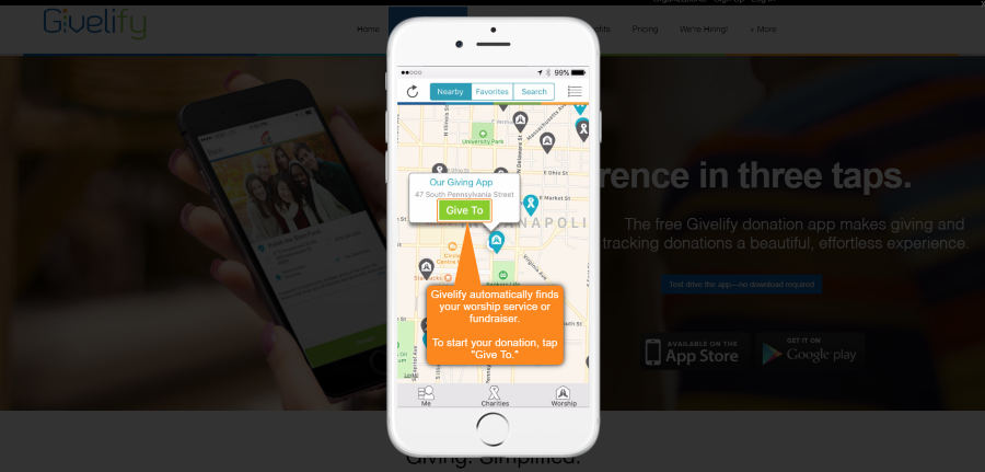 Test Drive the Givelify Mobile Giving App